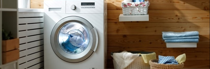 washing-machine-and-baskets-residential-laundry-room